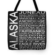 Subway Alaska State Square Tote Bag