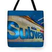 Subway Entrance Tote Bag