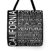 Subway California State 5 Square Tote Bag