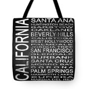 Subway California State Square Tote Bag
