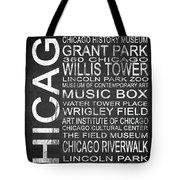 Subway Chicago 1 Tote Bag