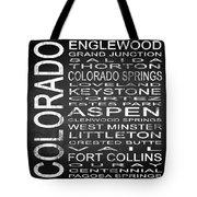 Subway Colorado State 2 Square Tote Bag