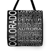 Subway Colorado State Square Tote Bag