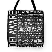 Subway Delaware State Square Tote Bag