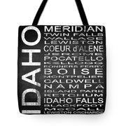 Subway Idaho State Square Tote Bag