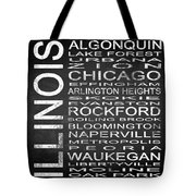 Subway Illinois State Square Tote Bag