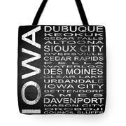 Subway Iowa State Square Tote Bag