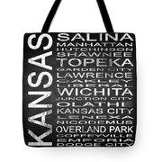 Subway Kansas State Square Tote Bag