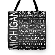 Subway Michigan State Square Tote Bag