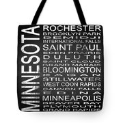 Subway Minnesota State Square Tote Bag