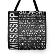 Subway Mississippi State Square Tote Bag