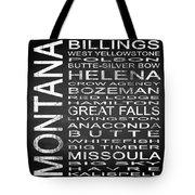Subway Montana State Square Tote Bag