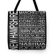 Subway New Hampshire State Square Tote Bag