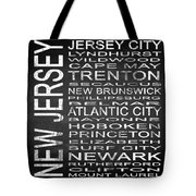 Subway New Jersey State Square Tote Bag