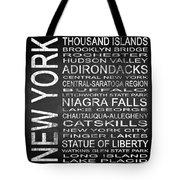 Subway New York State 4 Square Tote Bag