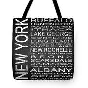 Subway New York State Square Tote Bag