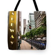 Subway Nyc Tote Bag