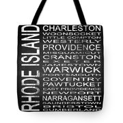 Subway Rhode Island State Square Tote Bag