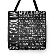 Subway South Carolina State Square Tote Bag