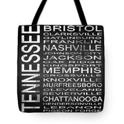 Subway Tennessee State Square Tote Bag