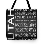 Subway Utah State Square Tote Bag