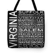 Subway Virginia State 2 Square Tote Bag