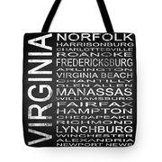 Subway Virginia State Square Tote Bag