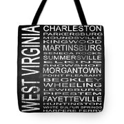 Subway West Virginia State Square Tote Bag