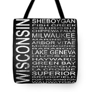 Subway Wisconsin State 2 Square Tote Bag