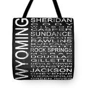 Subway Wyoming State Square Tote Bag