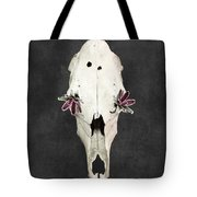 Succulent Flowers And Horse Skull Tote Bag