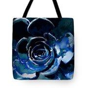 Succulent In Blue Tote Bag
