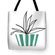 Succulent In Green Pot 3- Art By Linda Woods Tote Bag