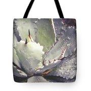 Succulent Raindrops Tote Bag