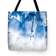 Succulents In Bleu Tote Bag