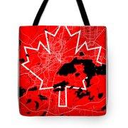 Sudbury Street Map - Sudbury Canada Road Map Art On Canada Flag Symbols Tote Bag