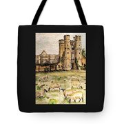Suffolk Sheep Grazing In Sussex Tote Bag