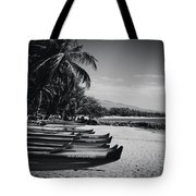 Sugar Beach Hawaiian Outrigger Canoes Kihei Maui Hawaii  Tote Bag