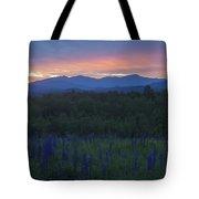 Sugar Hill Lupines And Presidential Range At Dawn Tote Bag