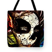 Sugar Skull In Blue  Tote Bag
