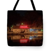 Suisan Fish Market At Night Tote Bag