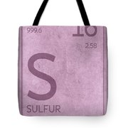 Sulfur Element Symbol Periodic Table Series 016 Tote Bag