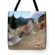 Sulfur Works In Lassen Volcanic Park Tote Bag by Christine Till