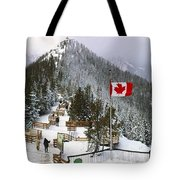 Sulphur Mountain In Banff National Park In The Canadian Rocky Mountains Tote Bag