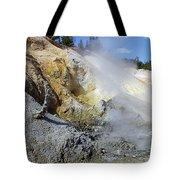 Sulphur Works - Lassen Volcanic National Park Tote Bag by Christine Till