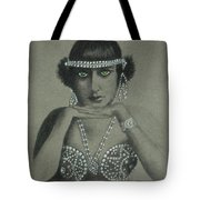 Sultry Silent Star -- Portrait Of Silent Film Star Tote Bag