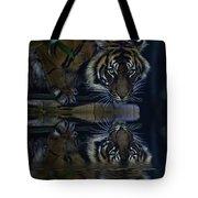 Sumatran Tiger Reflection Tote Bag