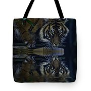 Sumatran Tiger Reflection Tote Bag