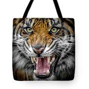 Sumatran Tiger Snarl Tote Bag