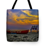 Summer Sunset In Cape May Nj Tote Bag